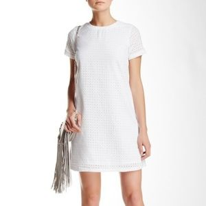 Olive & Oak Short Sleeve Eyelet Shift Dress